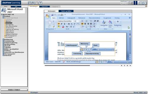 Trainingportal - Microsoft Word 2007, basic - English version
